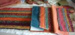 Fabric pieces for door draught excluder