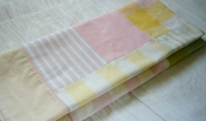 Pink Patchwork Throw folded view