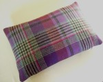 Cushion in Purple Tartan Wool
